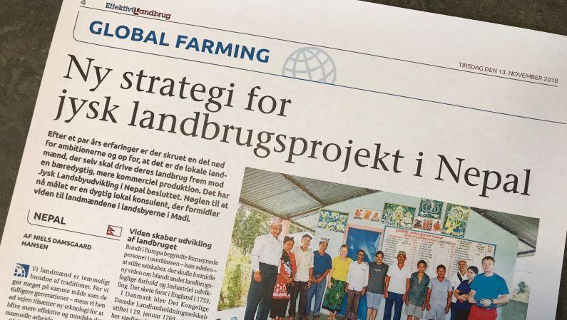 Ny strategi for landbrugsprojektet