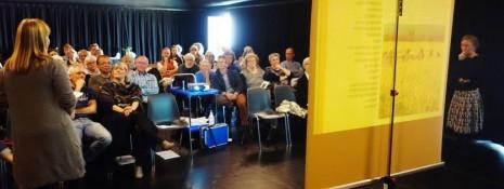 Vibeke D. Hansen fortæller om landbrug og erhvervsudvikling på sidste års generalforsamling