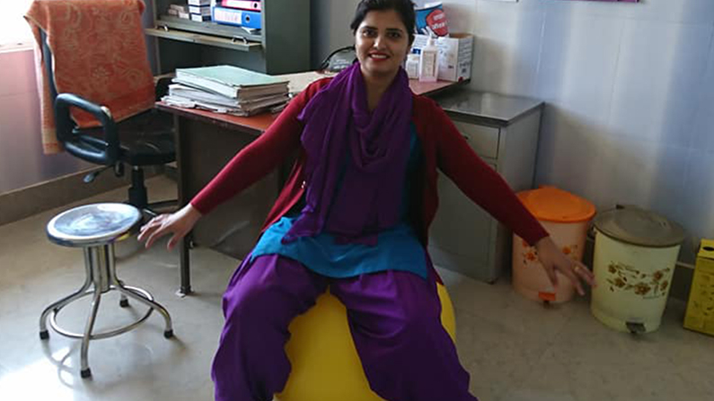 Gym bold i Health Post. Jysk landsbyudvikling i Nepal