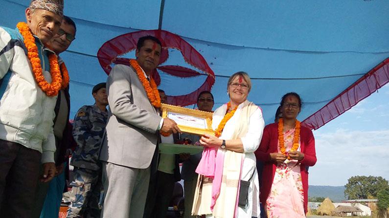 Indvielse af Ayodhyapuri Health Post