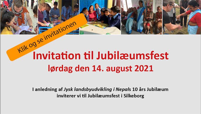 Invitation til Jubilæumsfest