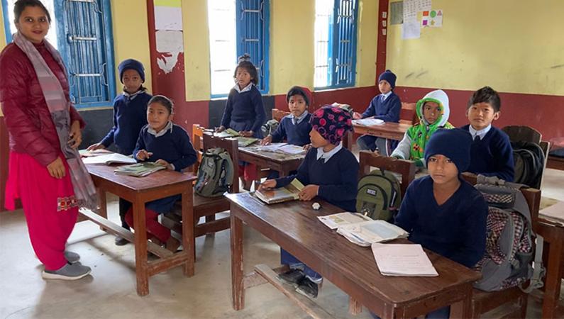 Kantipur Skole med Jysk landsbyudvikling i Nepal