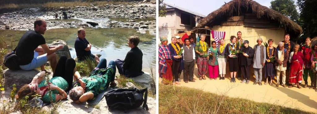 Vi nyder roen ved floden - og tager afsked med vores familier